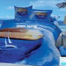 3D 100% cotton Sailing Bedding Set (King Size )