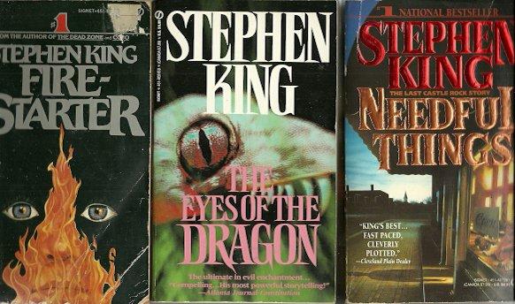 STEPHEN KING - Firestarter, Needful Things & Dragon PBs