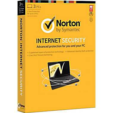 Norton Internet Security 2013 3 Users 1 Year