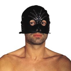 Leather Male Head Mask