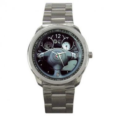 Alfa Romeo 147 T Spark Steering Wheel Sport Metal Watch