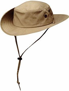 Solarweave UPF/SPF 50+ Sun UV Block Boonie/Outback Fishing Hat-TAN-MEDIUM