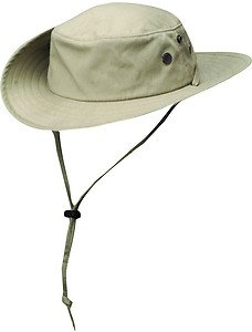 Solarweave UPF/SPF 50+ Sun UV Block Boonie/Outback Fishing Hat-LIGHT TAN-MEDIUM