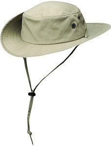 Solarweave UPF/SPF 50+ Sun UV Block Boonie/Outback Fishing Hat-Tan-LARGE