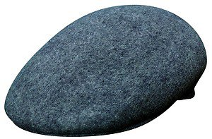 JCP Wool Crushable Ivy Cap/Driving Cabbie Driver Rounded Ascot Hat-GRAY-Large