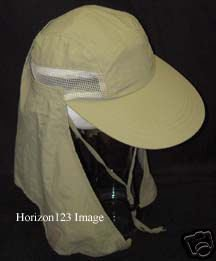 New!-Foreign Legion Style Vented Neck Flap Sun Cap-Hat