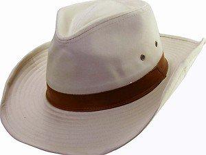 SPF-UPF 50-UV Sun Block Outback Bush Hat- Adjustable & Shapeable Brim-Tan MEDIUM
