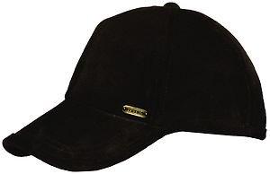STETSON Cap-Soft-Supple Top Grade Suede Ballcap Black