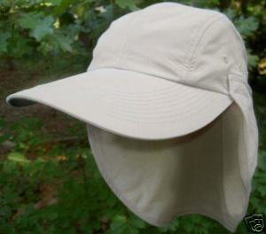 SPF/UPF 20 Microfiber-Removable Neck Flap Hat-Cap-Tan