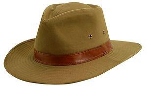 UPF/SPF 50-UV SUN BLOCK Outback Hat -   Shapeable & Adjustable Brim -Dark Tan-XL