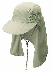 Super Cooloing-Max Air Flow-Vented Sun Cap-Removeable Face Neck Flap Hat