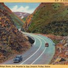 "Scenic- C.T. Art ""A California Highway"" Linen Postcard"