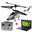 "KB-215079-195 Helicopter Airplane Built-in Gyro with 10"" Notebook"