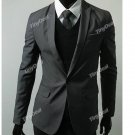 NMU-209748-55 Formal Business Side Vent One Button Men's Suits