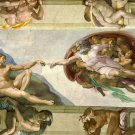 """PAINTING / FAMOUS, FREE WORLDWIDE SHIPPING michelangelo33-48""""X72""""-600 The Creation of Adam"""