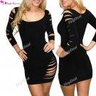 DRESS , FREE WORLDWIDE SHIPPING NTL-67037-21 Tearing Long Sleeve Women Costume