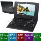 "7"" Android 4.0 Netbook Laptop w/ Camera  L-121566-130 CHEAP LAPTOP , FREE WORLDWIDE SHIPPING"