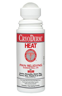 CryoDerm Heat Pain Relieving Warming Liquid ROLL-ON - 3 fl oz