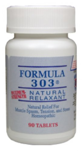 Dee Cee Laboratories (Labs) Formula 303 - Natural Muscle Spasm Relaxer & Pain Reliever - 90 Tablets