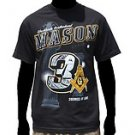 3 DEGREES OF LIGHT MASON  Black  Short sleeve Freemason  Masonic T-Shirt M-4X