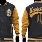 ALPHA PHI ALPHA Black Gold fleece Jacket Alpha Phi Alpha Baseball Jacket S-4X