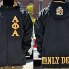 ALPHA PHI ALPHA Jacket Hoodie Coat Alpha Phi Alpha Black Hoody Jacket M-5X NEW