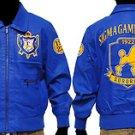 SIGMA GAMMA RHO leather jacket SIGMA GAMMA RHO blue Leather jacket Coat S-4X