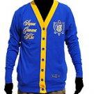 Sigma Gamma Rho Long sleeve cardigan sweater Blue Gold Cardigan Sweater S-3X