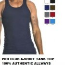WHITE TANK TOP T-SHIRT PRO CLUB LIGHT WEIGHT TANK TOP T-SHIRT WIFE BEATER XL 3PC