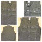 Gray sleeveless denim vest Sleeveless Denim Jean Vest jacket L-3X