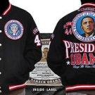 President Barack Obama Black Wool Varsity Jacket Black Jacket L-4X #2 Twill Coat