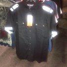 Black white short sleeve button up shirt Military style button up shirt XL 2XL