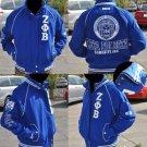 Zeta Phi Beta Blue Long sleeve Jacket S-3X Twill Jacket