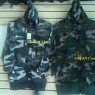 Gray Camouflage long sleeve jacket Camouflage hoody hoodie jacket Coat M-2X