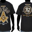 Freemason Mason Masonic Black Gold short sleeve Cotton Mason T shirt  M-5X