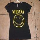 Womens Black short sleeve Nirvana short sleeve T SHIRT Nirvana T shirt S-XL NWOT