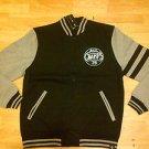Black Charcoal Gray Long Sleeve Varsity Jacket ALL CHAMPS Varsity Jacket M-XL