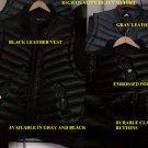 Black sleeveless down vest Leather Sleeveless Bubble Vest Casual Vest jacket M-3