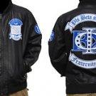 Phi Beta Sigma Leather Fraternity Jacket Black Phi Beta Sigma Jacket Coat M-5X