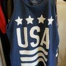 Dark Blue USA PEACE SIGN Tank Top USA FLAG Fashion tank top Tank Top tee S-XL
