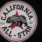 California All-star black short sleeve T shirt California Life T shirt S-2X NWOT