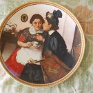 Norman Rockwell's Sweet 'Gossiping in the Alcove' 1983 Collector Plate