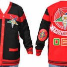 Order of Eastern sweater Black Red long sleeve cardigan sweater OES Sweater S-3X