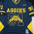 NC A&T AGGIES Blue short sleeve College Football Jersey North Carolina A&T 2X