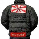 Mens green long sleeve aviator jacket by London Basic Army military Jacket S-XL