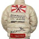 Mens white long sleeve bomber jacket by London Basic S-XL Millitary Jacket GFACT