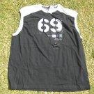 Sean John black white sleeveless short sleeve T shirt Casual Gym T shirt 2X NWT