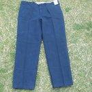 Renoir blue casual dress pants mens blue khaki work casual dress pants 46WX32L
