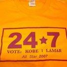 Los Angeles Laker's 2007 All-star Kobe Lamar T shirt Vingtage L.A. Laker T shirt