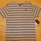 Gray white stripe V-neck shirt Enyce whit stripe short sleeve V neck shirt M-XL